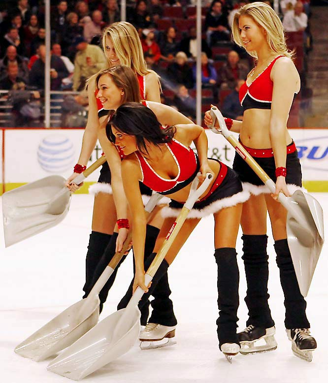 "Reasons like ""ice girls"" in this case Chicago Black Hawks"