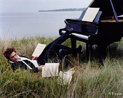 Robert Pattinson Playing Piano on Twilight Sisterhood  Vanity Fair  Robert Pattinson Hotter Than Ever