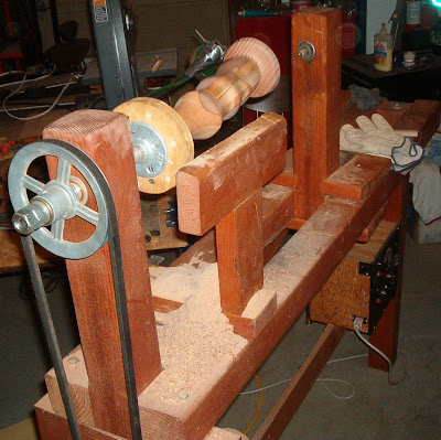 Going S On Of Otto S Pastimes Home Made Wood Lathe Or A