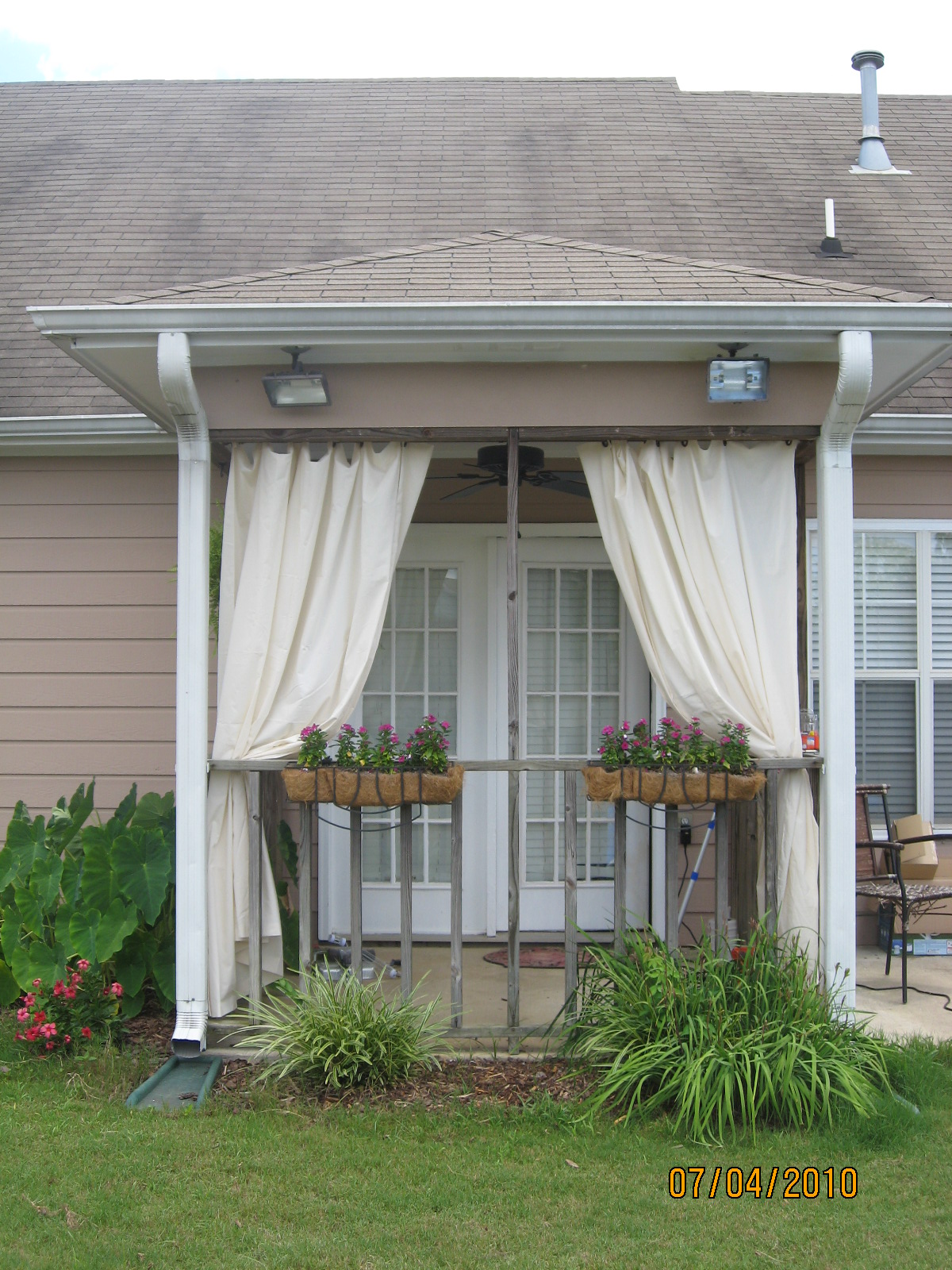 Much Ado About Morris Pretty Simple Porch Curtains A