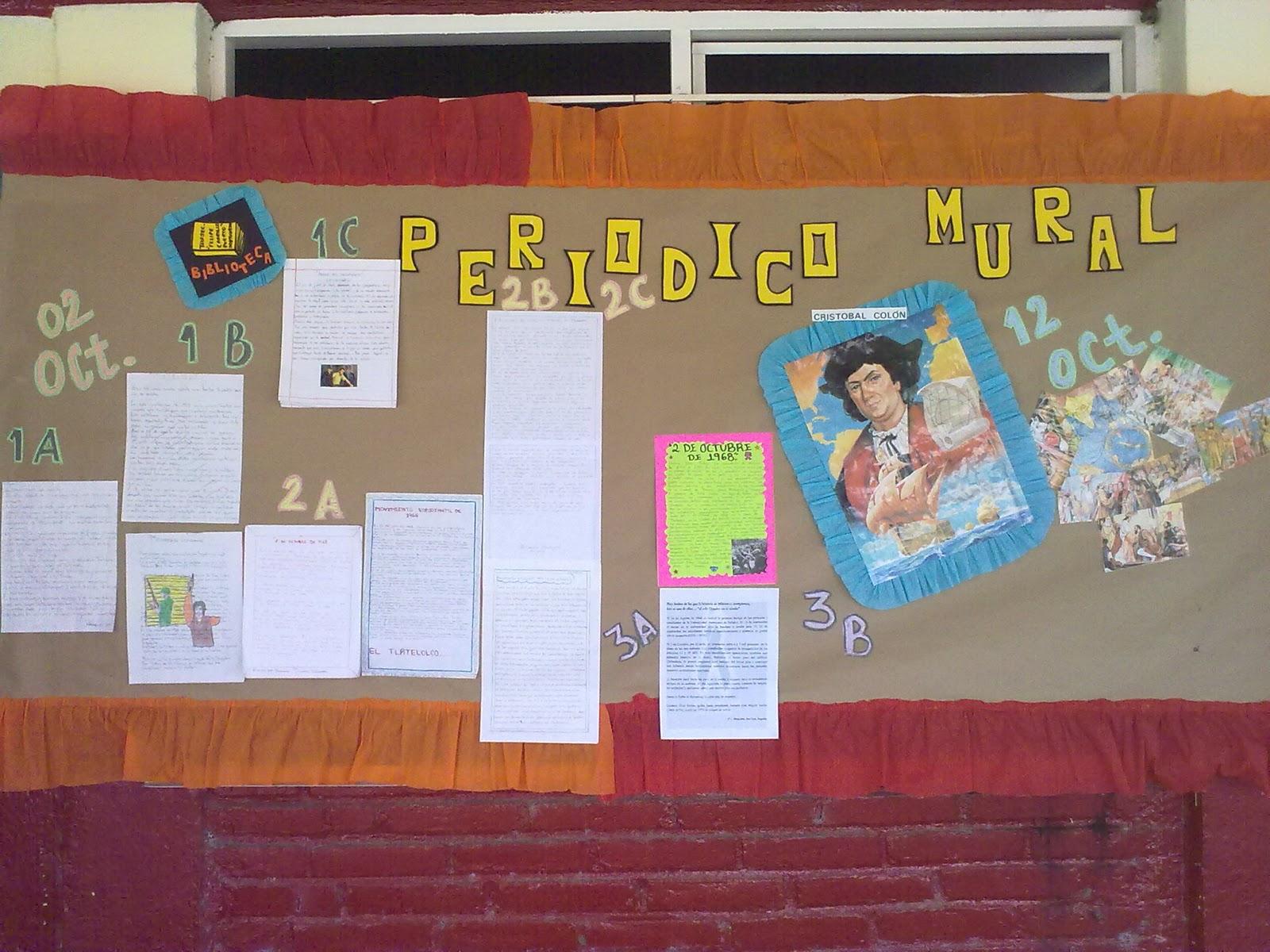 Bibliotecarrillo931 mural for Deportes para un periodico mural