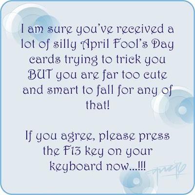 April Fool Wishes :)! F1