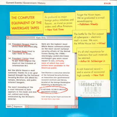 WHITE HOUSE E-MAIL - published in 1995