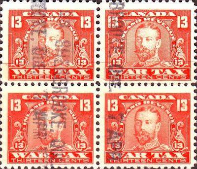 Canada  WAR TAX Stamp - WW1
