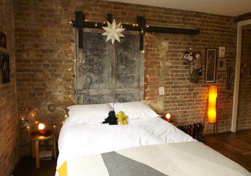 Meli exposed brick walls - Brick wall bedroom design ...