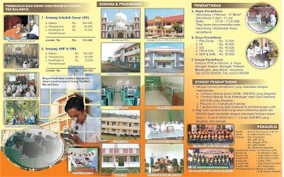 contoh brosur sekolah smp menarik