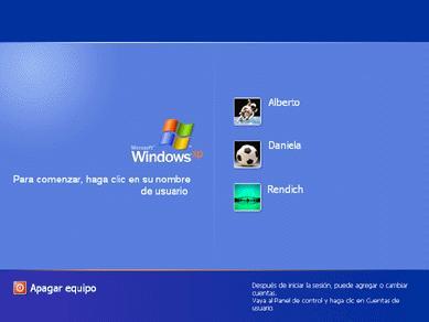 Windows XP, tiene 2 formas de realizar el inicio de sesión de los ...