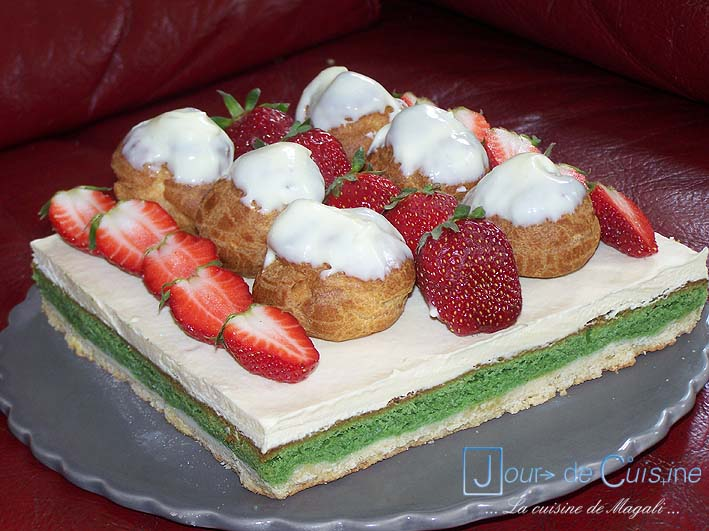 jour de cuisine les cours de cuisine clermont ferrand tarte profiteroles aux fraises. Black Bedroom Furniture Sets. Home Design Ideas