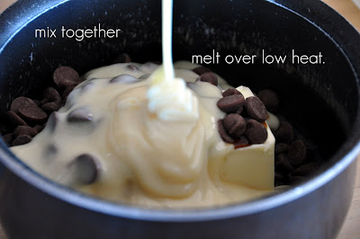 Once the Hot Fudge is all creamy and melted together.