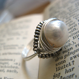 Handmade Sterling Silver Cocktail Ring with Freshwater Pearl