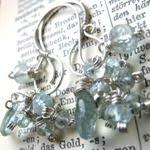 Aqua - Örhängen i silver med akvamarin