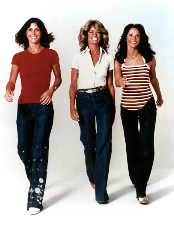 Charlie's Angels Costume Ideas http://hipfashionstylist.blogspot.com/2011/02/70s-high-waist-flare-trouser-jeans.html
