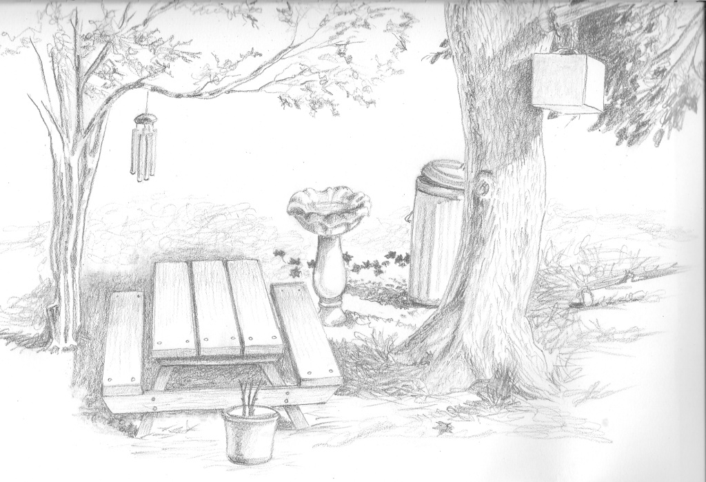 Picnic Table Sketch The picnic table is a very
