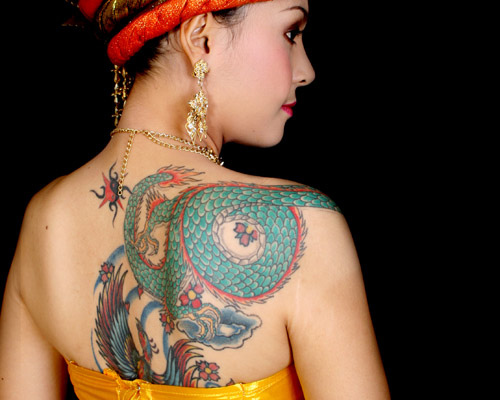 Size:600x450 - 346k: Chinese Snake Tattoo