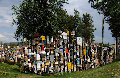 Some of the Thousands of Signs Posted by Travelers in the Watson Lake Signpost Forest