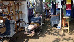 Man Resting at Talkeetna Festival