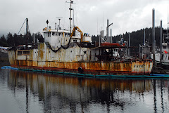 Moored in Seldovia - A Salty Old Shipping Vessel