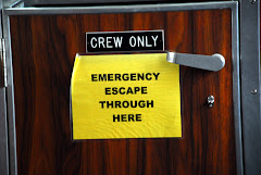 "Sign on Door on the Boat ""Discovery"" Taking Us Over to Seldovia"