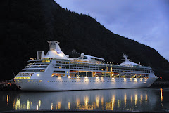 Cruise Ship Arriving In Skagway Harbor Early in the Morning