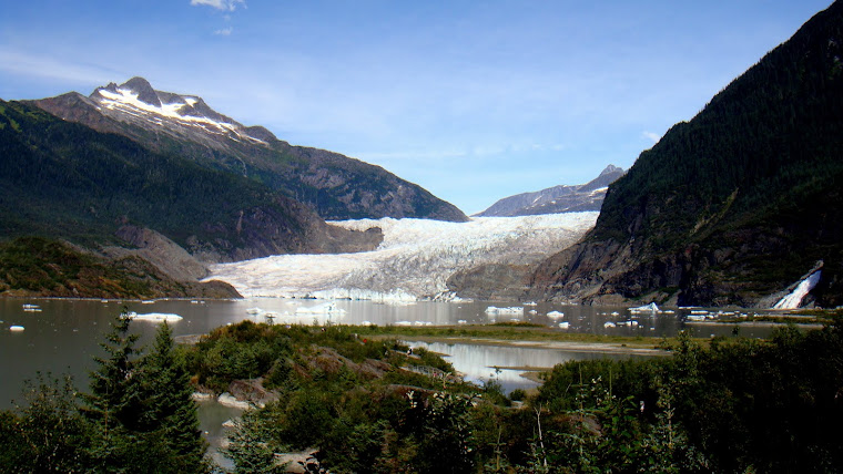Mendenhall Glacier and Nugget Falls in Juneau