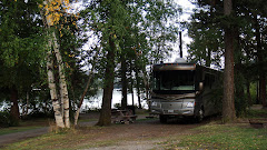 Spending the Night in McLeese Lake RV Resort, BC (Right on the Lake)