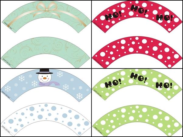 Cupcake Wrappers De Natal