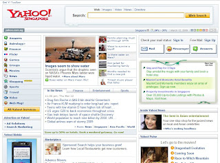 Yahoo Singapore New Ad format on Homepage