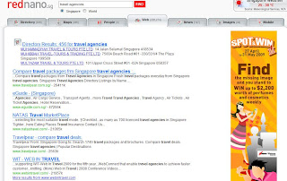 travel agencies rednano search result page