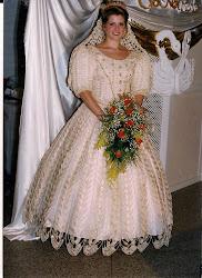 vestido de noiva,que fiz pra minha filha.