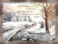 New Year Snow Cards