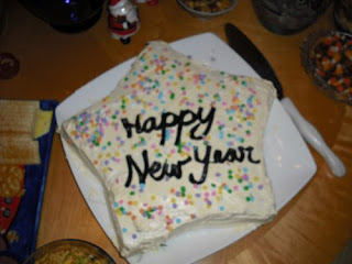 new year wishes with cake