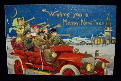 Vintage seasonal Postcards for new year