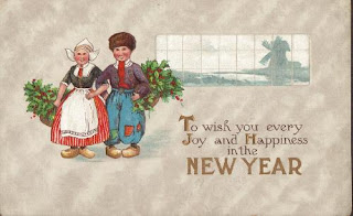 antique vintage new year postcards