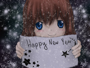 new year wishes by anime cartoons