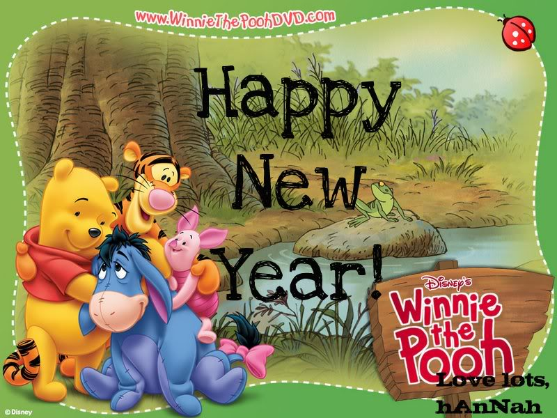 winnie the pooh new year ecards