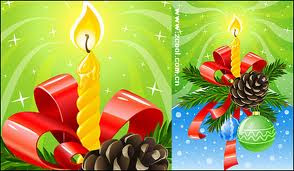 candle new year card