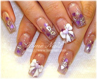 disenos de unas. Diseño de uñas Color Lila /