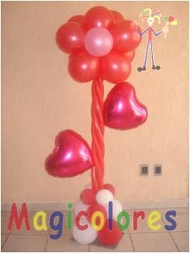 Magicolores globos decoraciones con globos para amor y for Decoracion amor y amistad oficina