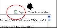 Centang Expand Template Widget