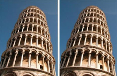 Leaning Tower of Pisa Illusion