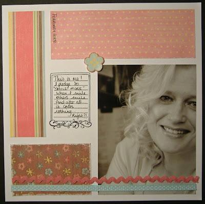 Simple 8x8 Scrapbook Page This My Layout For Evening
