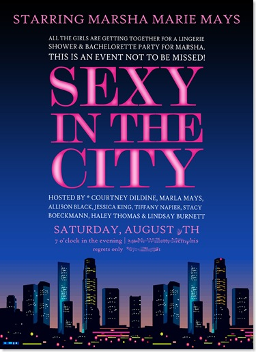 Bachelorette party games sex and the city