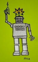 Robot Silkscreen by Paul Potts