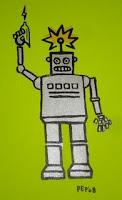 Robot Silkscreen by Paul Potts