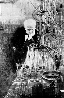 Thomas Edison sterilising tomato seeds (I think!)