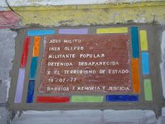 Homenaje a Ines Ollero, militante desaparecida