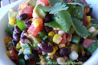 Grill-Roasted Corn and Tomato Salsa (and Salad!)