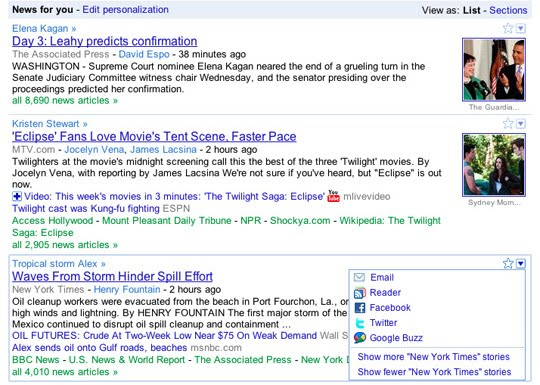 SHARING Extra! Extra! Google News redesigned to be more customizable and shareable | Tech NEWS