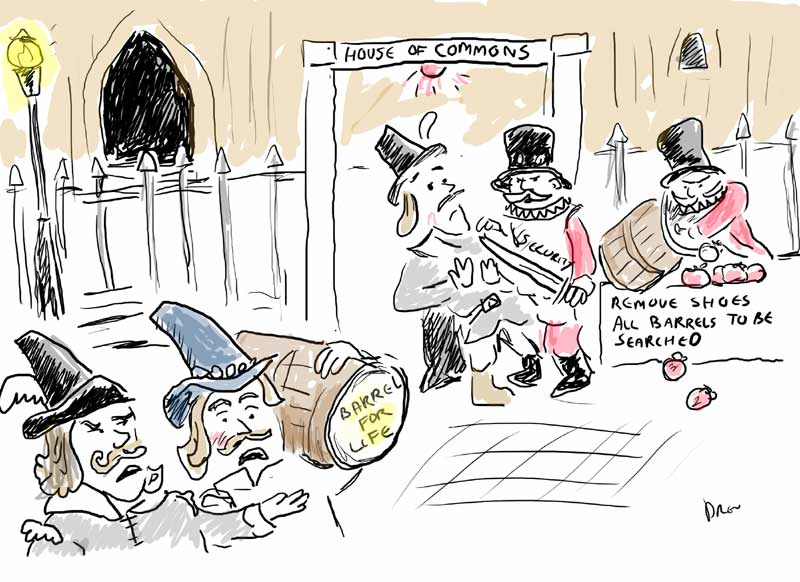 Guy Fawkes cartoon