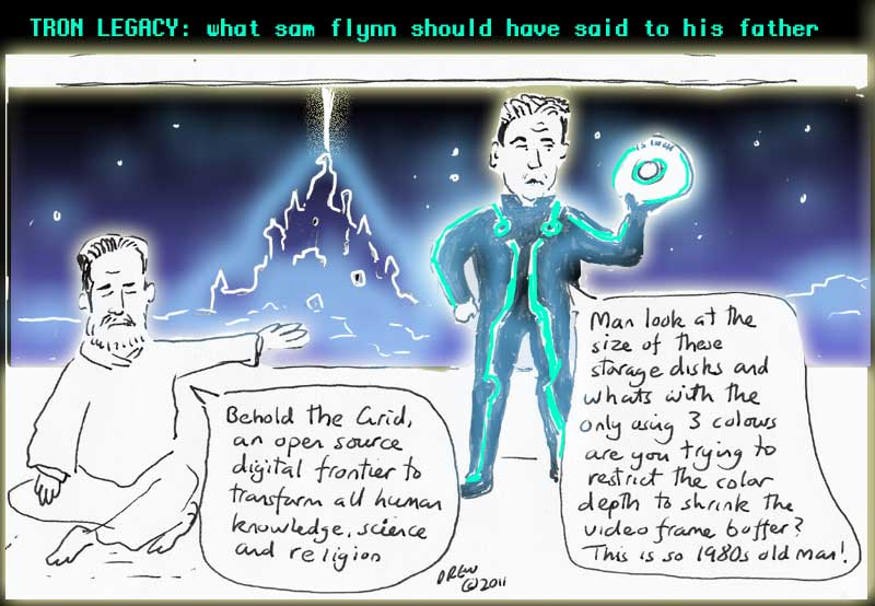 Tron Legacy Cartoon